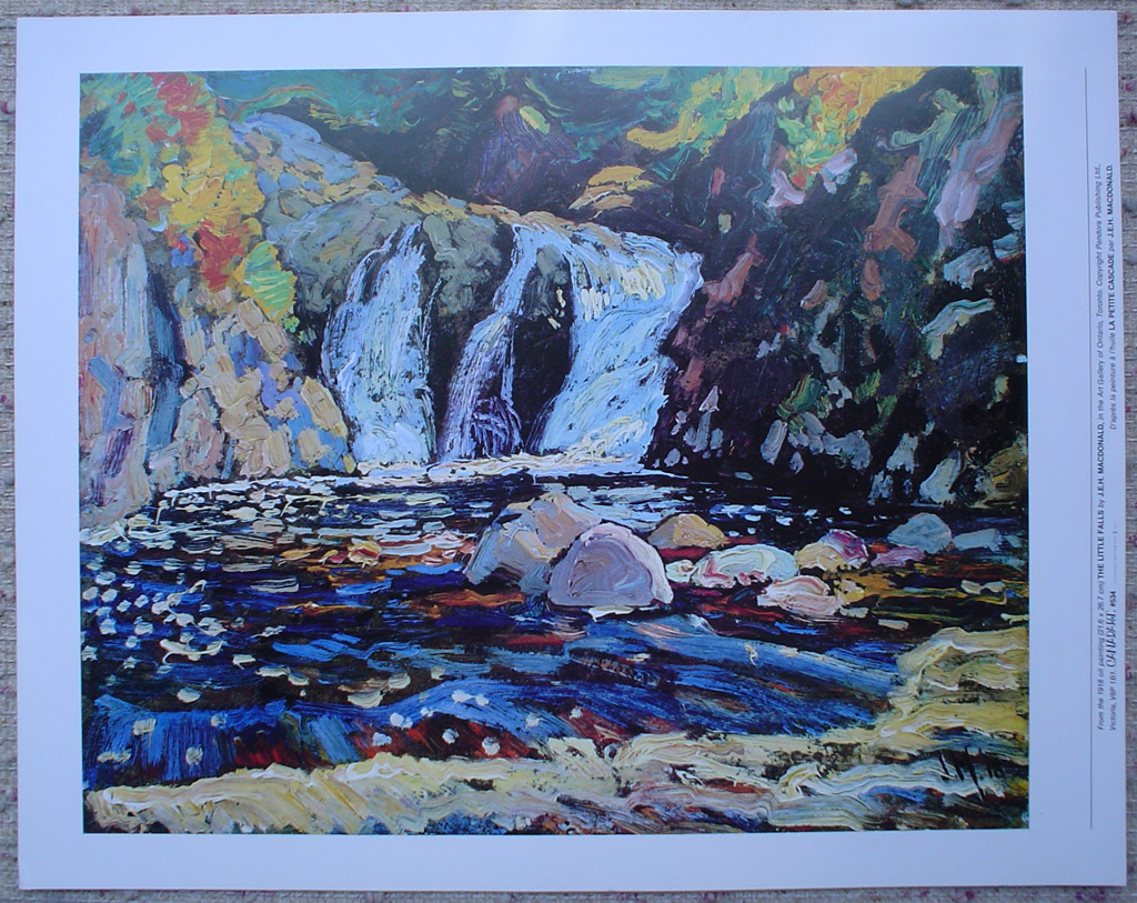 The Little Falls by James Edward Hervey MacDonald, shown with full margins - offset lithograph fine art print