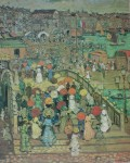 Ponte Della Paglia by Maurice Prendergast, The Phillips Collection Washington DC - offset lithograph fine art poster print