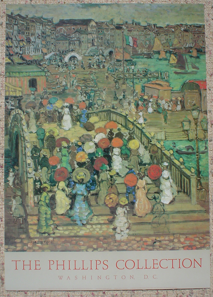 Ponte Della Paglia by Maurice Prendergast, The Phillips Collection Washington DC, shown with full margins - offset lithograph fine art poster print