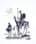 Don Quixote by Pablo Picasso - silkscreen reproduction fine art print