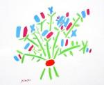 Blue Bouquet by Pablo Picasso - silkscreen reproduction fine art print