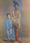 Two Harlequins by Pablo Picasso - collectible collotype fine art print