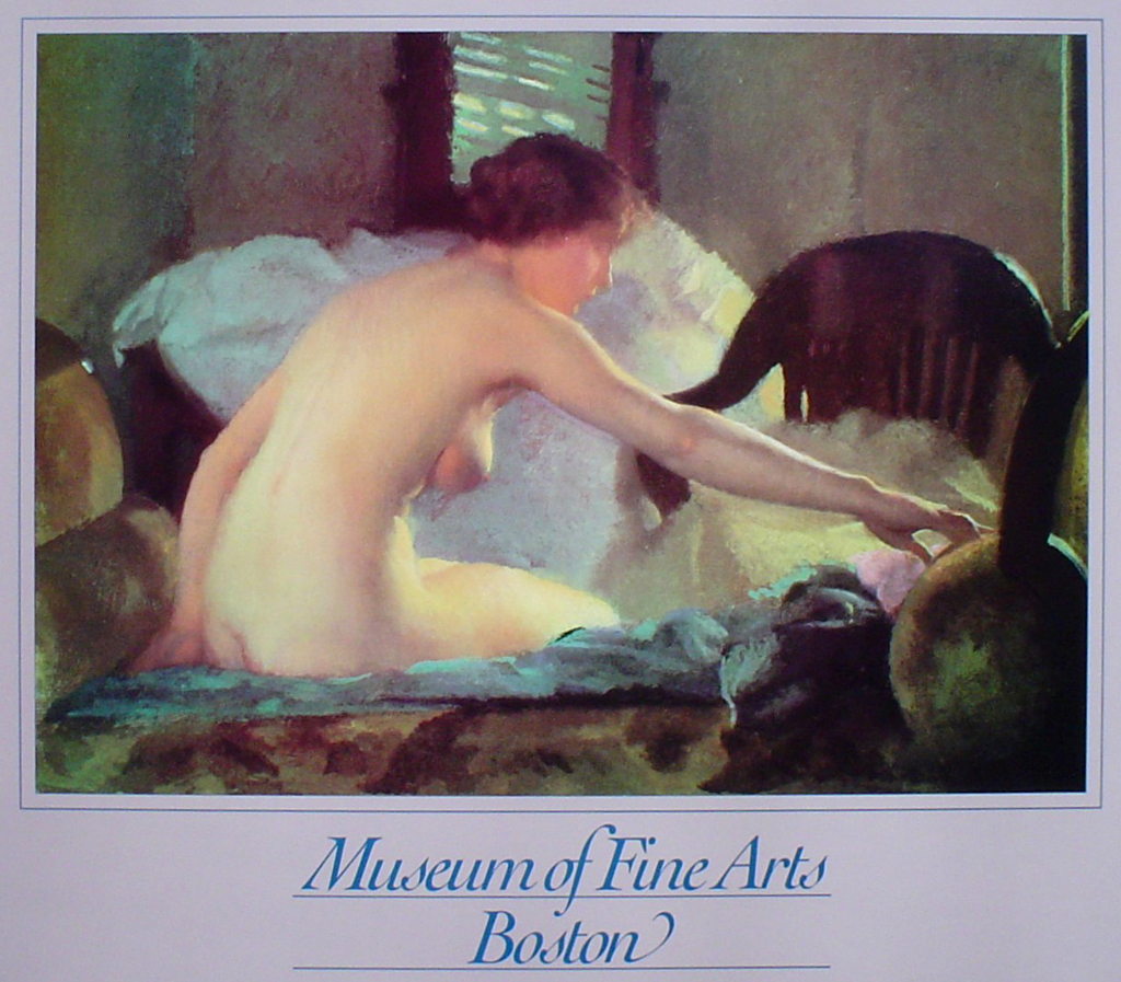 Nude Seated by William McGregor Paxton, Museum of Fine Arts Boston - offset lithograph fine art poster print