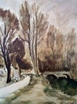 Landscape With A Bridge by Andre Dunoyer De Segonzac - offset lithograph fine art print