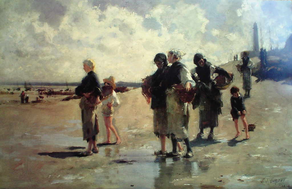 The Oyster Gatherers Of Cancale by John Singer Sargent, Museum of Fine Arts Boston - offset lithograph fine art poster print