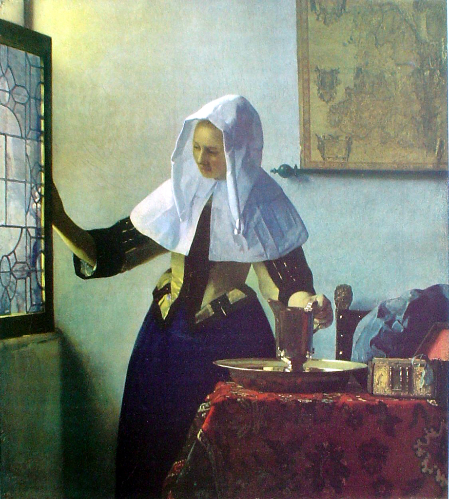 Young Woman With Watering Can by Johannes (Jan) Vermeer - collectable collotype fine art print