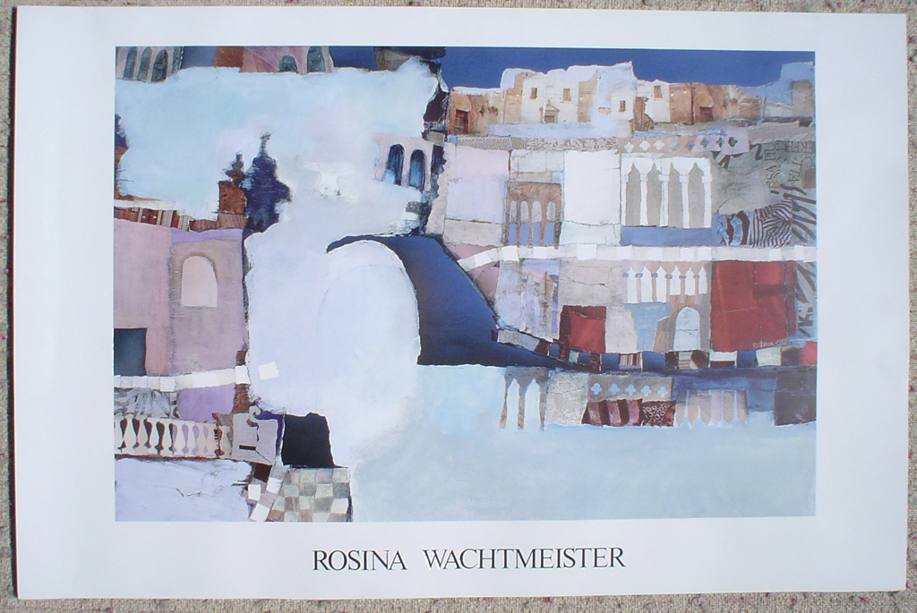 KerrisdaleGallery.com - stock ID# WR079ph - Fairy Tale Castle by Rosina Wachtmeister, shown with full margins - offset lithograph with metal foil insets fine art poster print