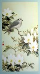 Dove With Magnolias by Cheng Wu Fei - offset lithograph fine art print
