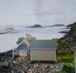 John's Bay by John Atwater - offset lithograph fine art print