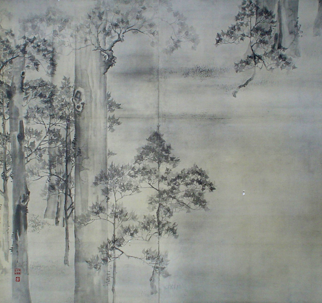 Cypress Trees by Ikeda Koson - collectible collotype fine art print