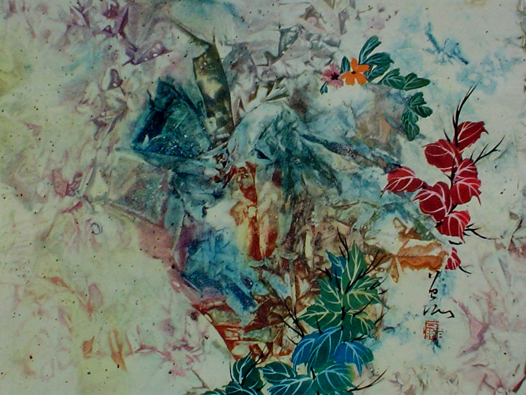 Stirring Leaves by Tseng-Ying Pang - collectible collotype fine art print