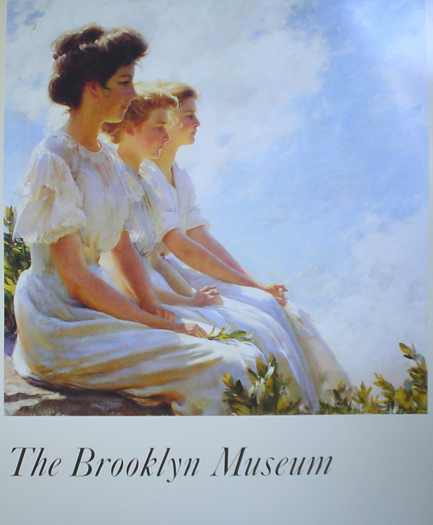 On The Heights by Charles Curran, The Brooklyn Museum - offset lithograph fine art poster print