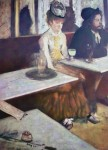 L'Absinthe by Edgar Degas - offset lithograph fine art print
