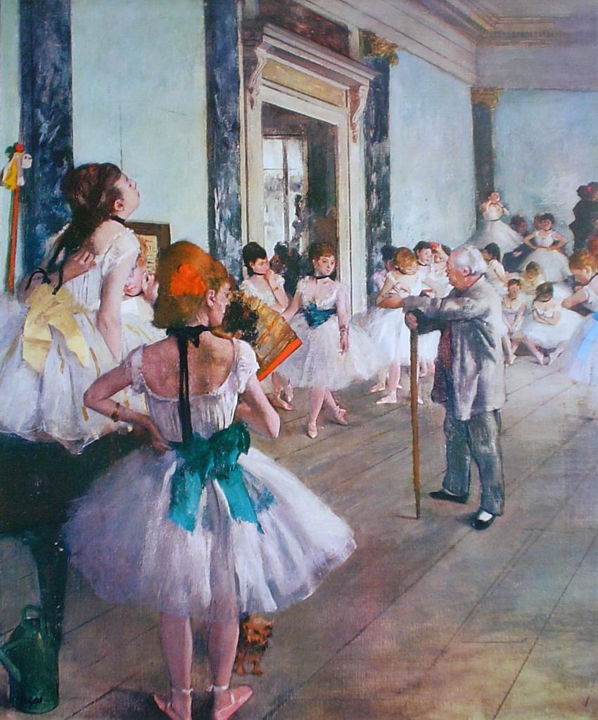 Dancing Class by Edgar Degas - offset lithograph fine art print