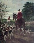 Evening, Returning To The Kennels by Edward A. Douglas - offset lithograph fine art print