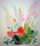 Gladioli by Raoul Dufy - offset lithograph fine art print