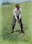 Golfing Scene: Fore by A.B. (Arthur Burdett) Frost - offset lithograph fine art print