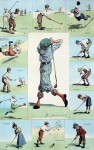 Golfing Incidents by A.B. (Arthur Burdett) Frost - offset lithograph fine art print