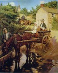 The Drinking Trough by Stanhope Forbes - offset lithograph fine art print