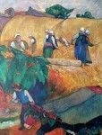 Harvest Scene by Paul Gauguin - offset lithograph fine art print