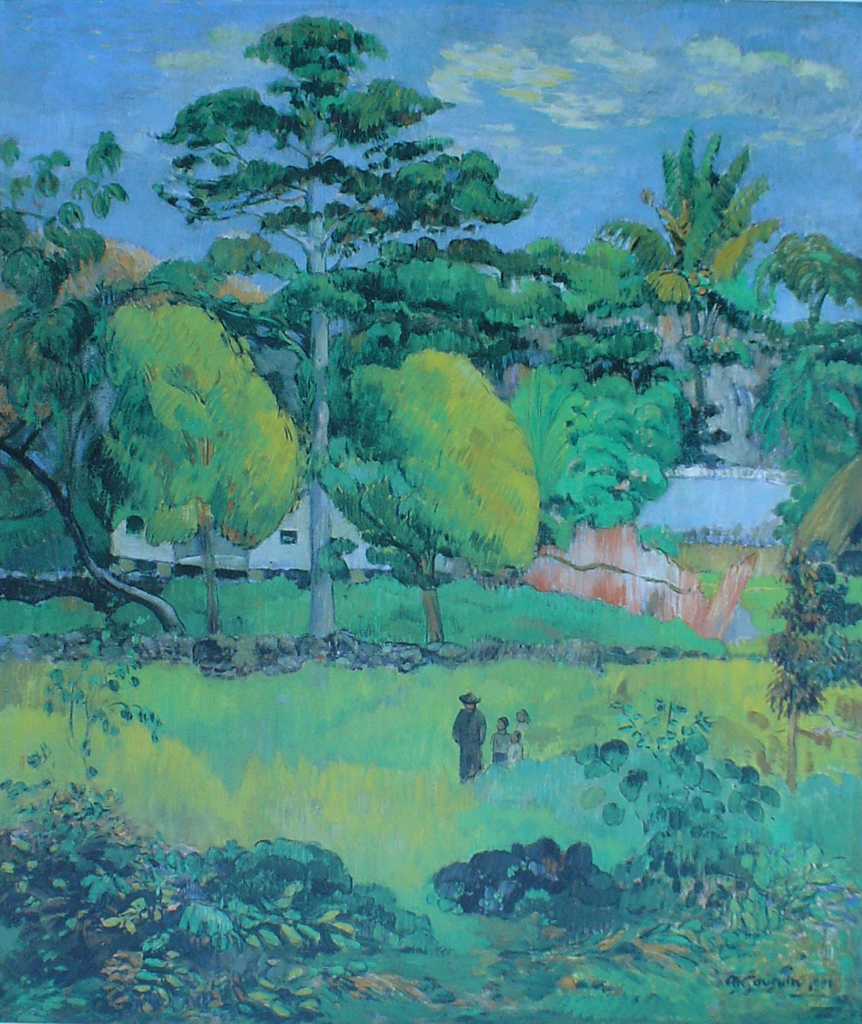 Landscape, 1901 by Paul Gauguin - offset lithograph fine art print