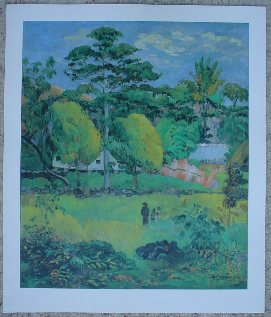 Landscape, 1901 by Paul Gauguin, shown with full margins - offset lithograph fine art print