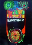 World Tour by Friedrich Hundertwasser - original vintage poster - offset lithograph fine art poster print