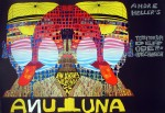 Andre Heller's Luna Luna by Friedrich Hundertwasser - original vintage poster - offset lithograph with metal foil insets fine art poster print