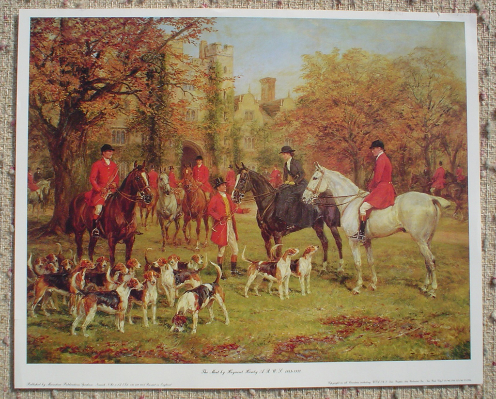 The Meet by Hewyood Hardy, shown with full margins - offset lithograph fine art print