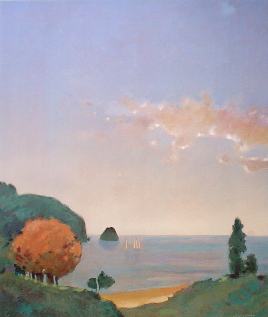 Island Afternoon 1 by Max Hayslette - offset lithograph fine art print
