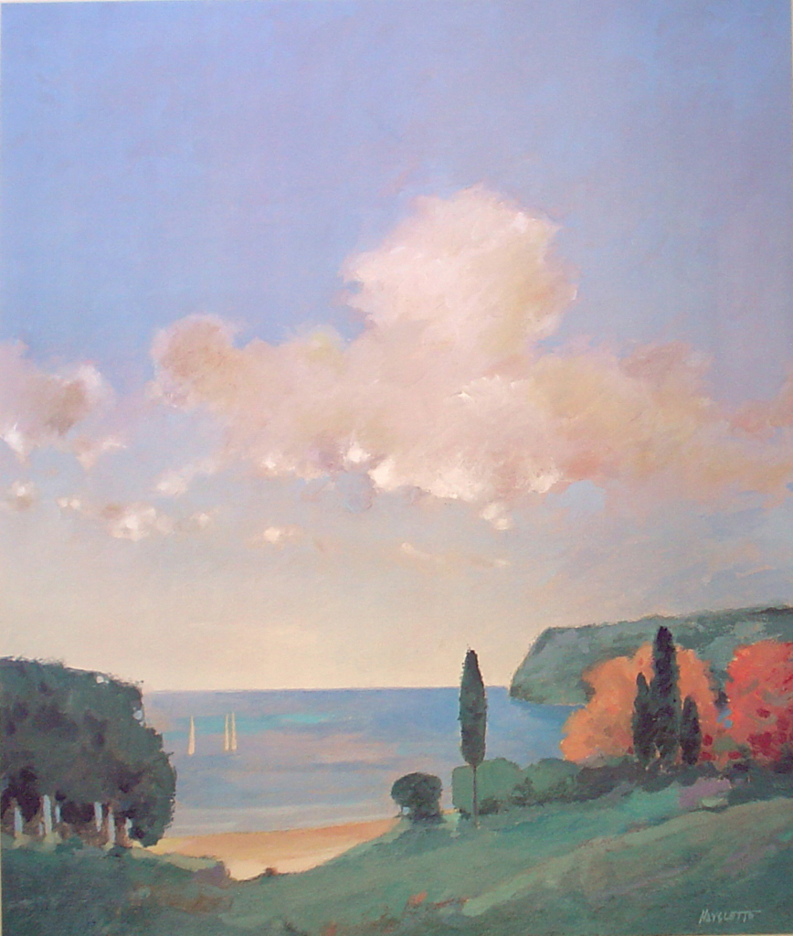 Island Afternoon 2 by Max Hayslette - offset lithograph fine art print