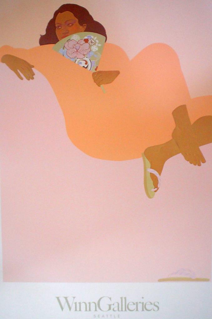 Apricot Summer by Pegge Hopper, Winn Galleries - offset lithograph fine art poster print