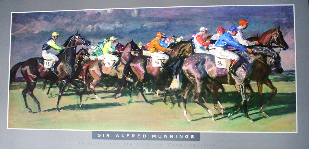 Study For The Start Of The Cambridgeshire by Sir Alfred Munnings - offset lithograph fine art poster print