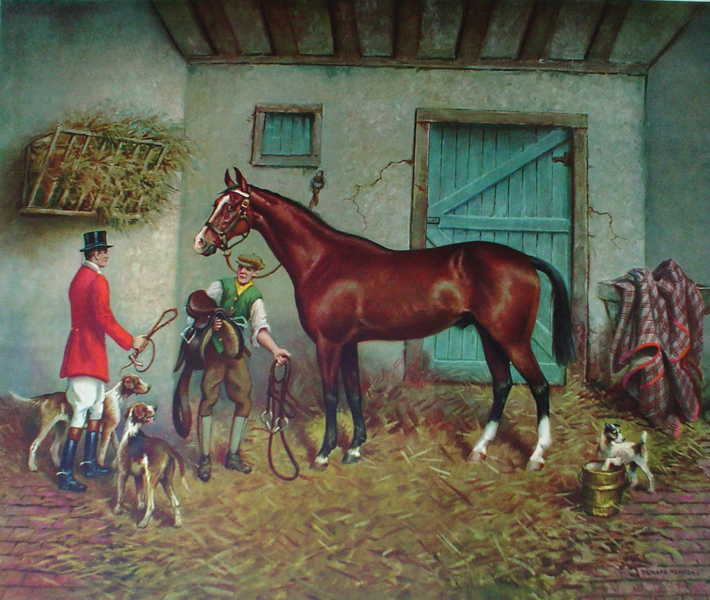 Morning Of The Hunt by Richard Newton, Jr. - collectible collotype fine art print