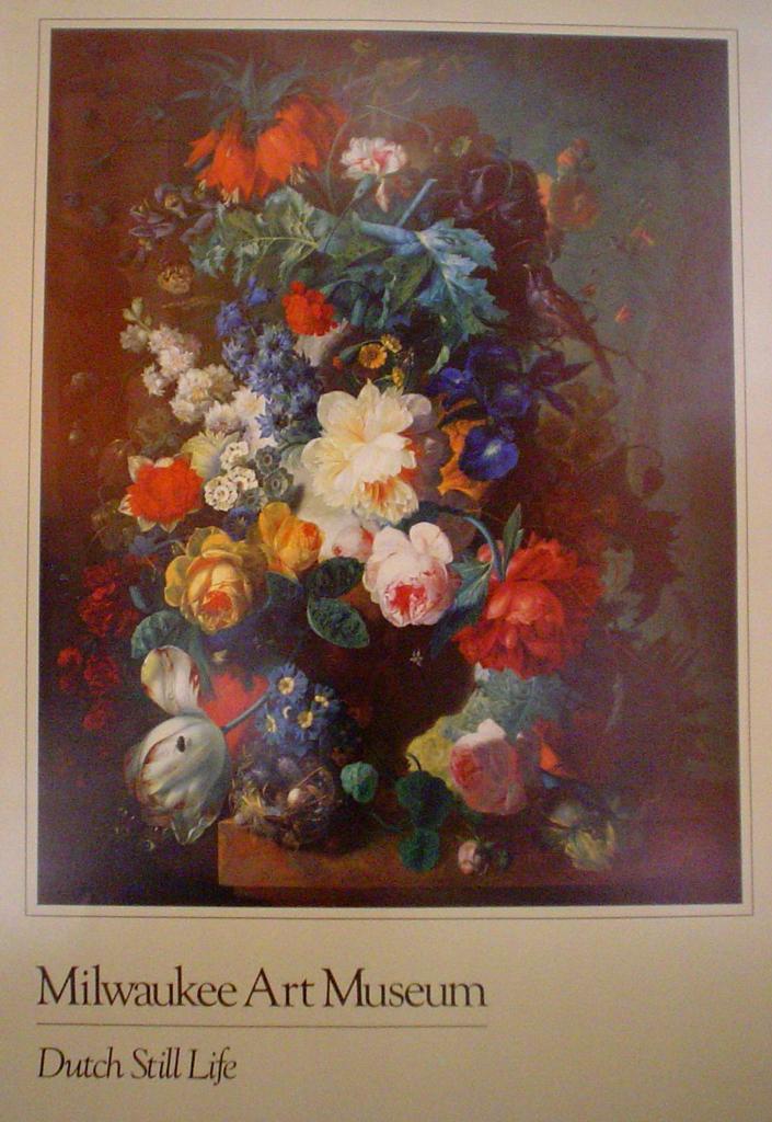 Dutch Still Life by Jan Van Os, Milwaukee Art Museum - offset lithograph fine art poster print