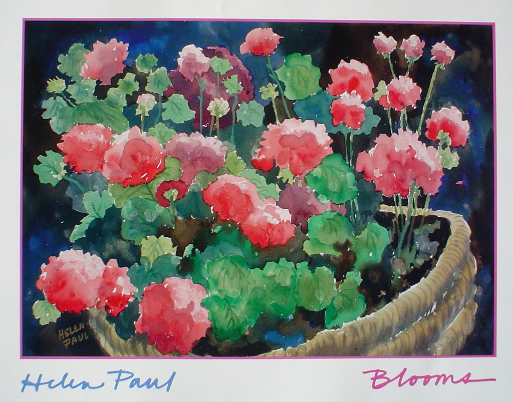 Blooms by Helen Paul - offset lithograph fine art poster print