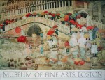 Umbrellas In The Rain by Maurice Prendergast, Museum of Fine Arts, Boston - offset lithograph fine art poster print