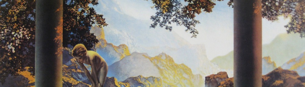 Daybreak by Maxfield Parrish - offset lithograph fine art print