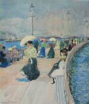 South Boston Pier by Maurice Prendergast - offset lithograph fine art print