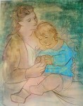 Mother And Child by Pablo Picasso - offset lithograph fine art print