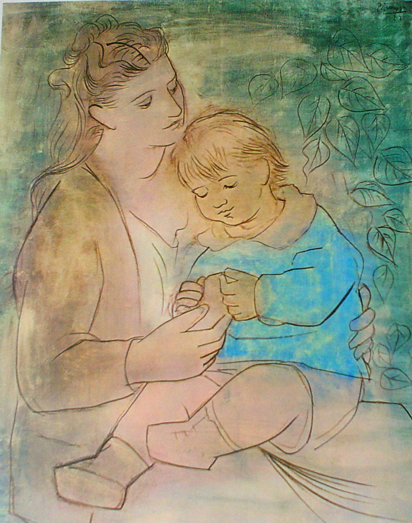 Picasso Mother And Child Kerrisdale Gallery