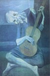 The Old Guitarist by Pablo Picasso - offset lithograph fine art print
