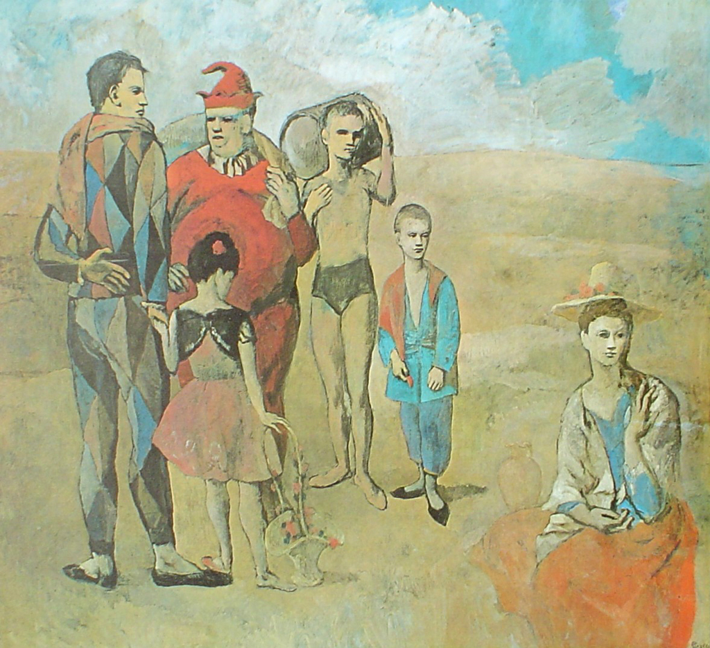 Family Of Saltimbanques, 1905 by Pablo Picasso - offset lithograph fine art print