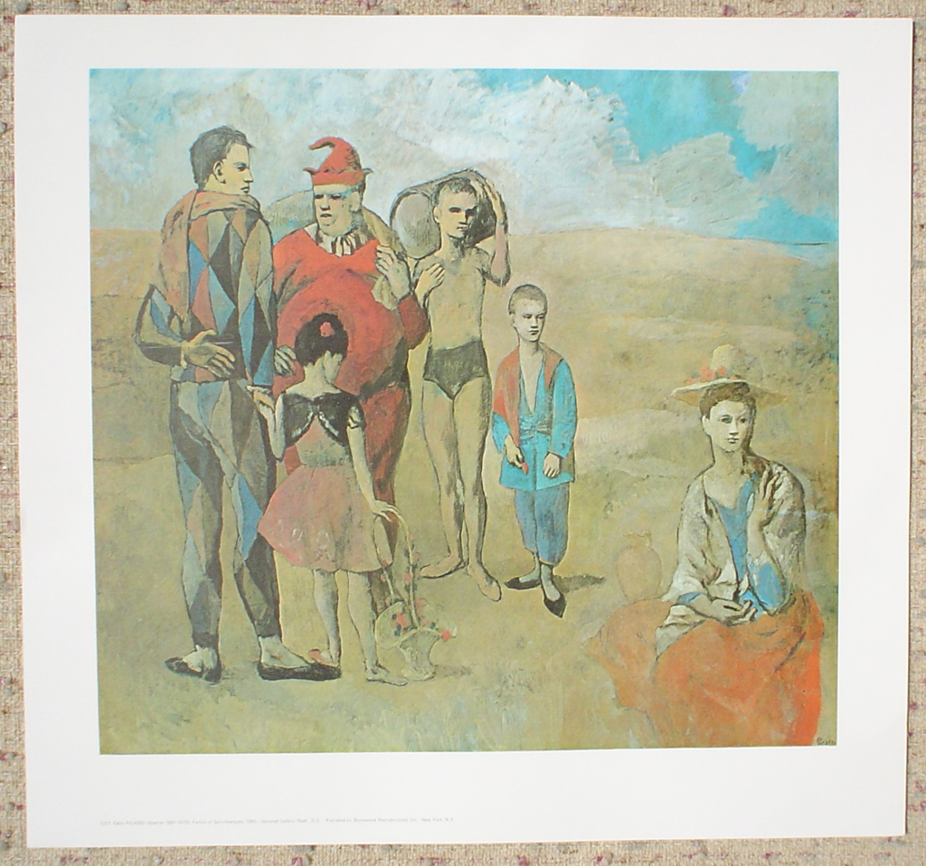 Family Of Saltimbanques, 1905 by Pablo Picasso, shown with full margins - offset lithograph fine art print