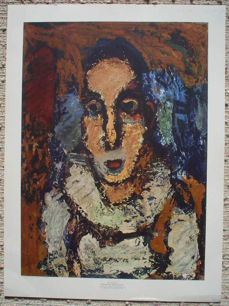 The Clown by Georges Rouault, shown with full margins - offset lithograph fine art print
