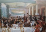 The Salon Lunch, 1889 by Jean Andre Rixens - offset lithograph fine art print