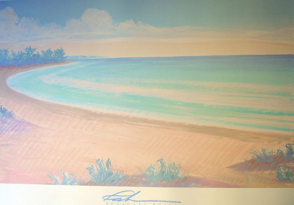 Hidden Cove, Seascape Suite by Michael Raburn - offset lithograph fine art poster print