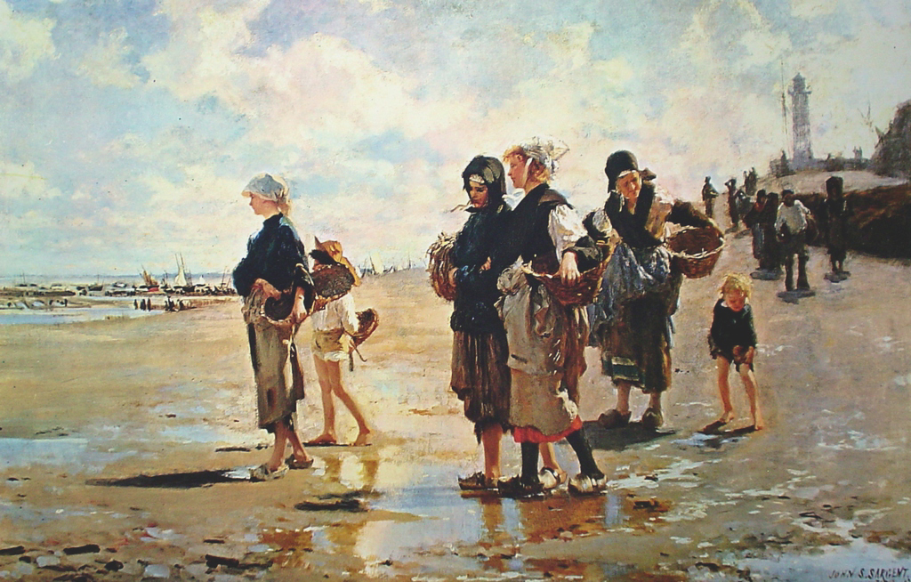 The Oyster Gatherers by John Singer Sargent - offset lithograph fine art print