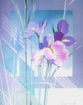 Imperial Iris by Oscar Tejeda - offset lithograph fine art print