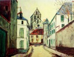 Suburban Street by Maurice Utrillo - collectable collotype fine art print
